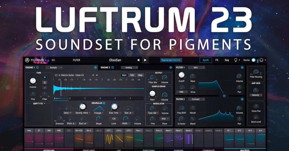 Luftrum 23 for Arturia Pigments 2 Cover