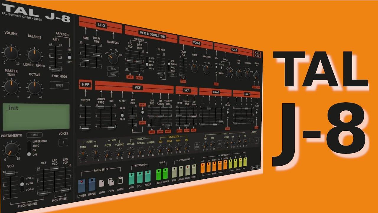 TAL Software – TAL-J-8 Cover